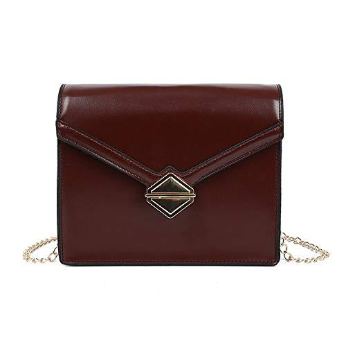 FREEMLPiccola borsa donna 2019 nuova moda blocco singola spalla piccola borsa quadrata messenger a catena selvaggia