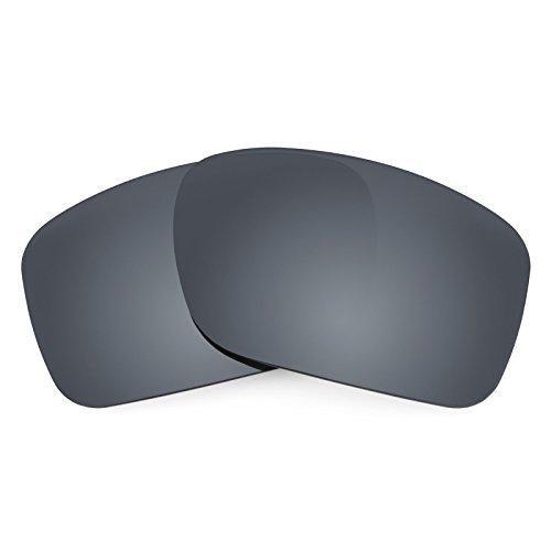 Revant Ersatzgläser für Oakley Turbine, Polarisiert, Elite Schwarz Chrom MirrorShield -