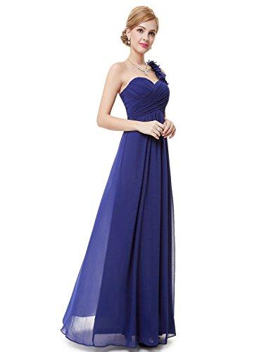 Ever-Pretty Vestito da donna vestito da sera vestito da sera lungo da abito da sera 40 Zafiro Azul