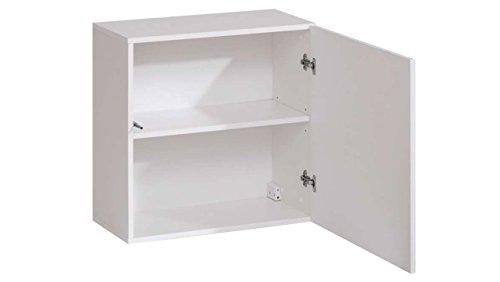 JUSThome SWOTCH IX Wohnwand Anbauwand Schrankwand (HxBxT): 160x330x40 cm Weiß Matt / Weiß Hochglanz - 5