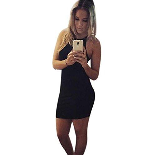 Damen Kleider Yesmile Frauen Elegant Asymmetrisch Perspektive Ärmelloses Hoher Kragen Bodycon Kleid...