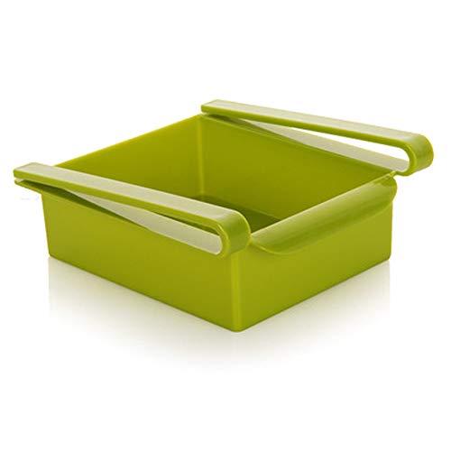 Romote 1 PC-Kühlschrank-Aufbewahrungsbehälter Küche Kühlschrank Schublade Regal-Speicher Obst Nahrungsmittelbehälter-Rack-Kühlschrank Liners (Grün) -