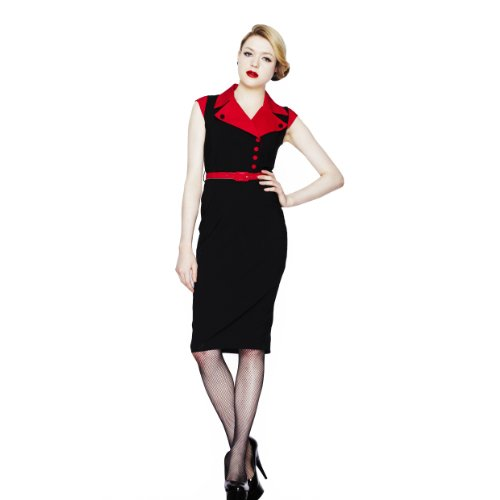 Hell Bunny -  Vestito  - Donna Black - Black-Red 48
