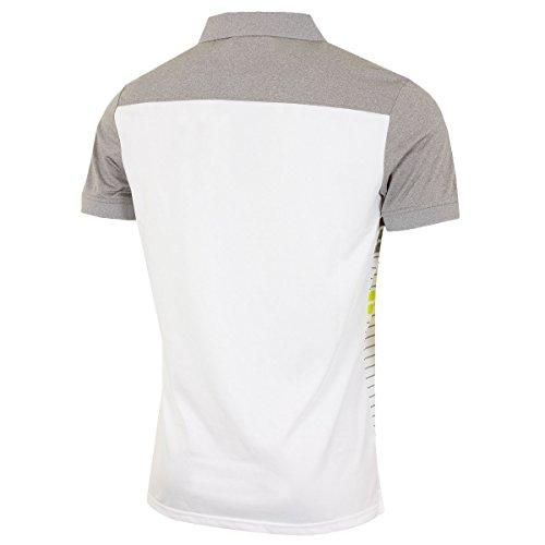 Calvin Klein Herren Poloshirt Weiß/Grau