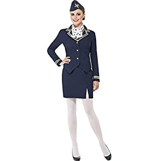 erdbeerclown - Stewardess Kostüm für Damen, XL, Blau