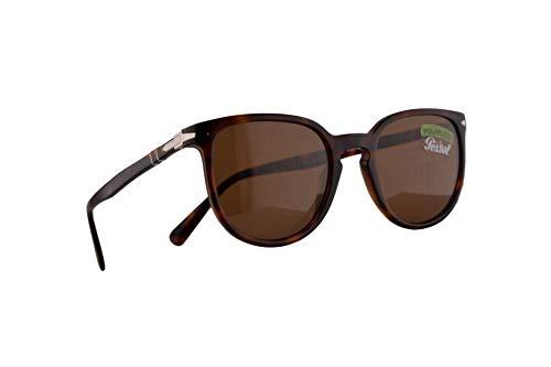 Persol 3226-S Sonnenbrille Havana Braun Mit Polarisierten Brunen Gläsern 51mm 24AN PO 3226S PO3226S PO3226-S
