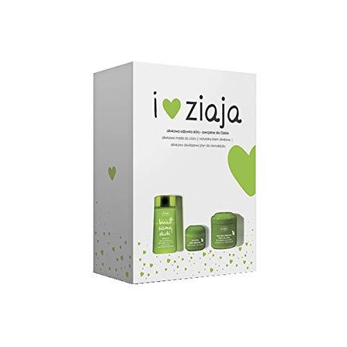 ZIAJA GESCHENKSET Gesichtspflege Olivenöl Körperbutter, Gesichtscreme, Make-up Entferner (Olivenöl Set2)