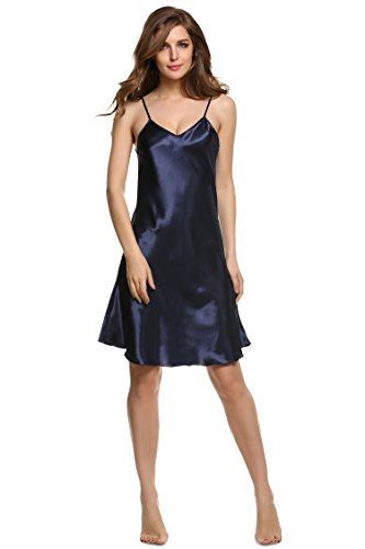 cooshional Donna Sexy Sottovesto /raso Lingerie Blu scuro