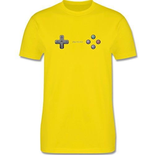 Nerds & Geeks - Play me nice - Herren Premium T-Shirt Lemon Gelb