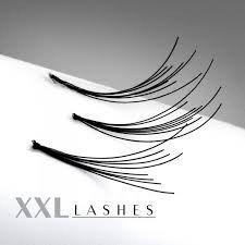 Flare Wimpern (200 Flare Lashes mit feinem Knoten, im preiswerten Nachfüllbeutel in den Längen 6-15 mm Size 08 mm)