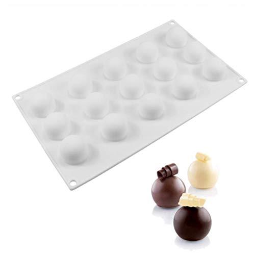 1Pcs Non-Stick Silikon-runde Kugel geformte Mini-Trüffel-Form für Schokoladen-Form-Backen-Trüffel Dessert Kuchen, die Werkzeuge (Trüffel-silikon-form)