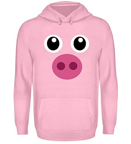 ALBASPIRIT Pinkes Schweinchen T-Shirt Halloween Süßes Schwein Geschenk -