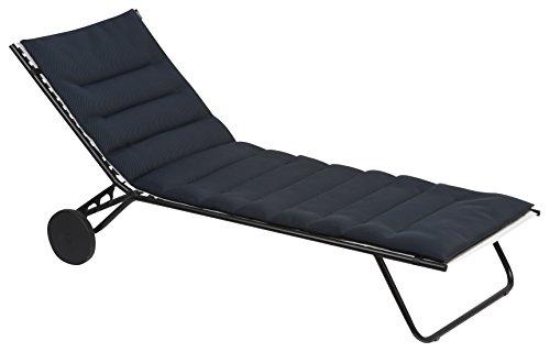 Lafuma gepolsterte Air Comfort Auflage für Sonnenliegen, acier (schwarz)