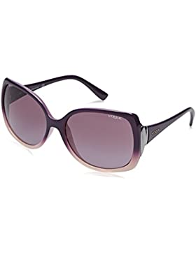 Vogue VO2695S 23478H - Gafa de sol mariposa color violeta con lentes color gris degradadas