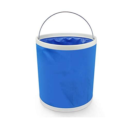 Klappbecken Faltbare Eimer tragbare Multifunktions Mit Rindfleisch Sehnenschoner Mit Reißverschlusstasche, 11 Liter (Size : A)