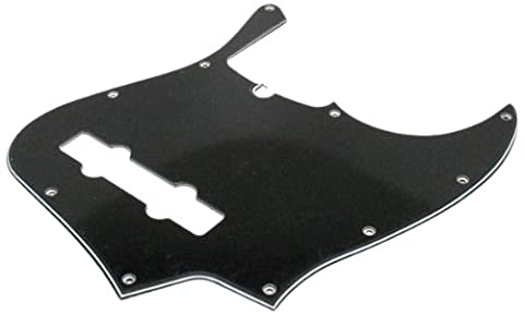 Fender 006-3313-000 3-Ply Black 10-Hole Mount 5-String Jazz Bass Pickguard