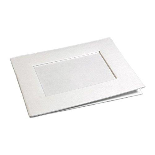 Karton Bilderrahmen blanko weiß zum Bemalen, Dekorieren, Selbstgestalten 17x22cm (Bilderrahmen Dekorieren)