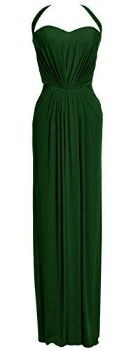 MACloth - Robe - Dos nu - Sans Manche - Femme Vert - Vert foncé