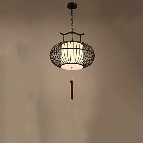Xiao Fan ▶ Iron Chandelier - Vogelkäfig, Retro Farbe, Asiatische Klassische Laterne Design-Back-Finish, Rostschutz, Robust und Langlebig ◀