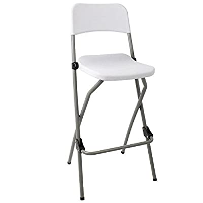 2 X Bolero Folding High Stool Steel Frame Plastic Seat Kitchen Portable - low-cost UK light shop.