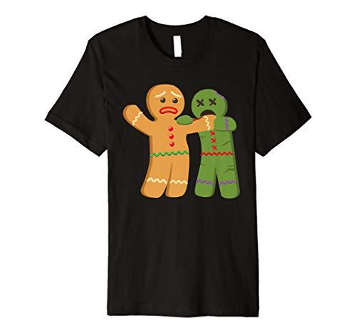 Lebkuchen Zombie Funny Beißen Weihnachten T-Shirt
