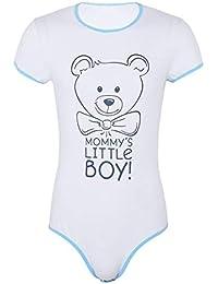 inhzoy Romper Barboteuse Combinaison à Manche Courte T-Shirt Body Dors Bien Bébé  Adulte Snap Entrejambe Combinaison en Coton Outfit… baba7ce9b7d