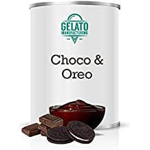 Choco Oreo - Crema espatulable de chocolate negro con trozos de galleta ideal para vetear y