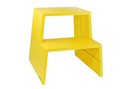 Preisvergleich Produktbild NATUREHOME Design Tritthocker Massivholz Buche gelb mit Tragegriff Hocker Sitzhocker