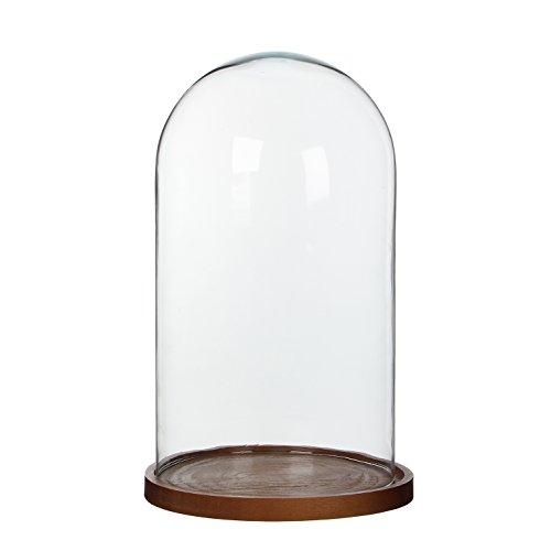 Campana de cristal Hella, Mica Decorations, vidrio, transparente, h38x