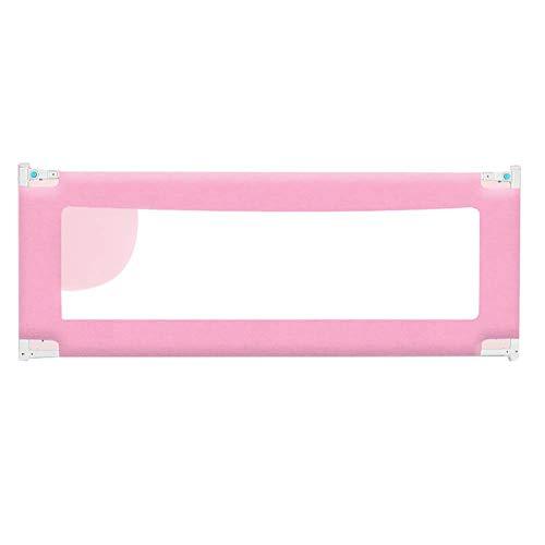 Laufgitter Laufstall Baby Kinder-Bett-Schiene Pink Safety Guard für für Twin Bed & King Size Bett, verstellbare Kleinkind Bedrail (1 Packung) (größe : 1.8m) -