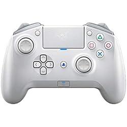 Razer Raiju Tournament Edition Mercury - Manette de Jeu Bluetooth Sans Fil et Filaire Avec Boutons d'Action Tactile Mecha, Compatible Avec PS4 et PC (blanc)