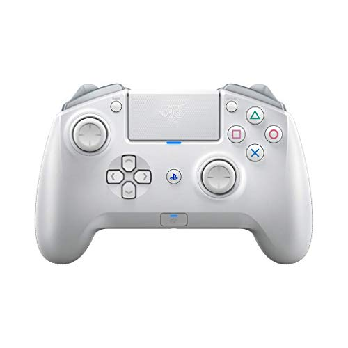Razer Raiju Tournament Edition 2019 Mercury - Controlador inalámbrico y con Cable para Juegos PS4/PC con Botones de acción táctil Mecha, Partes Intercambiables y Panel de Control rápido (Blanco)