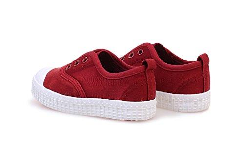 ALUK- Chaussures de bébé - chaussures de toile pour enfants apprendre chaussures paresseuses chaussures décontractées ( Couleur : Rouge , taille : 28 ) Rouge