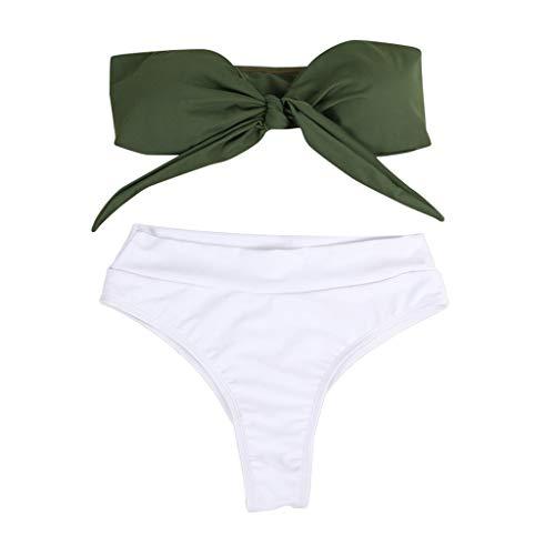 ZLTBN Bikinis 2019 Bañador para Mujer Conjunto de Bikini Bikini Push-up Traje de baño de Corte Alto...