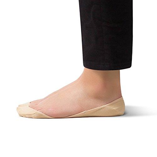 Damensocken, unsichtbar, rutschfest, aus Baumwolle–von sheec Gr. Medium, weiß - Ped Socken
