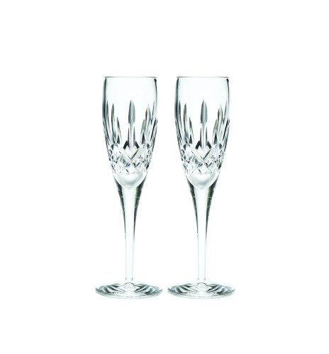Waterford Lismore Nouveau Champagne Flute Pair, 7-Ounce by Waterford Crystal Lismore Nouveau Waterford Crystal