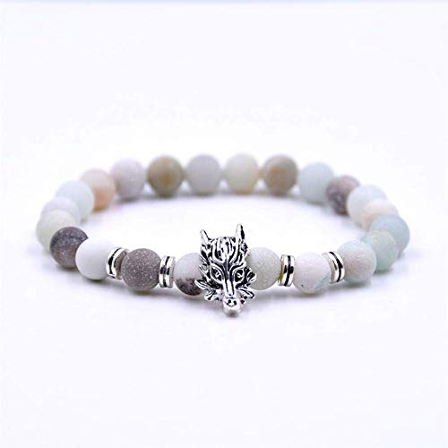 Armband Armreif,Schmuck Geschenk,8Mm Frosted Amazonite Bracelet Beads Bracelet Bracelet for Women Energy Bracelet Men Gifts Yoga Jewelry