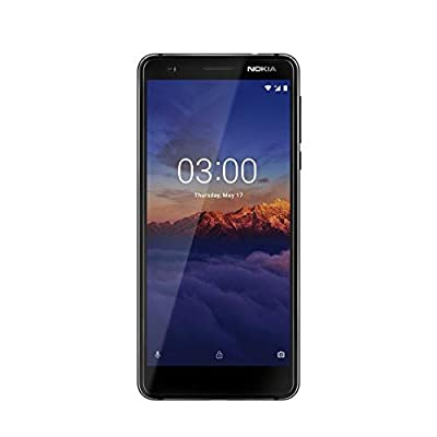 Nokia 3.1 16GB 5.2in 13MP SIM-Free Smartphone in Black (Renewed)