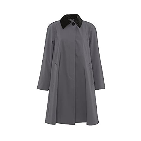 De La Crème - Women's Plus Size Lightweight Overcoat Ladies Jacket Oversized Big Size Swing Coat (UK 10 (44