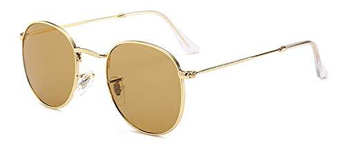 Sport-Sonnenbrillen, Vintage Sonnenbrillen, Glass Lens Retro Round Sunglasses Women Fashion Dark Green Sun Glasses Men