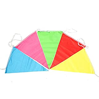 KUNSE 125ft Multicolors Triangle Pennant Flag Party Wedding Birthday Banner Bunting Decorations