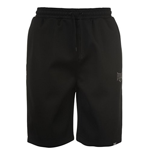 Everlast Herren Shorts Kurze Trainingshose Hose Sporthose Trainingsshorts Schwarz Large (Baumwoll-shorts Everlast)