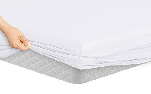 Manor Ridge Luxury 100GSM Brushed Microfiber Hypoallergenic Fitted Sheet, Twin, White -