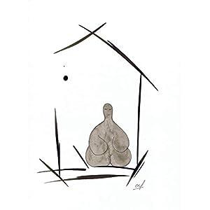 Olivier Cornil – Premier homme lune – Tuschezeichnung – 24 x 32 cm