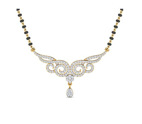 Samaira Gems 14KT Yellow Gold Mangalsutra Necklace for Women