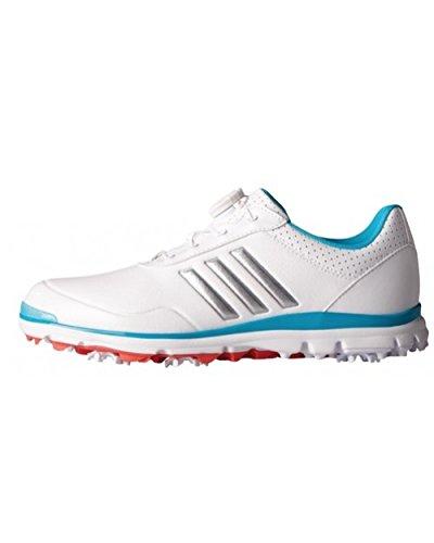 adidas , Damen Golfschuhe, Damen, Q44694_39.3, Weiß/Silberfarben / Blau, 39 1/3 EU
