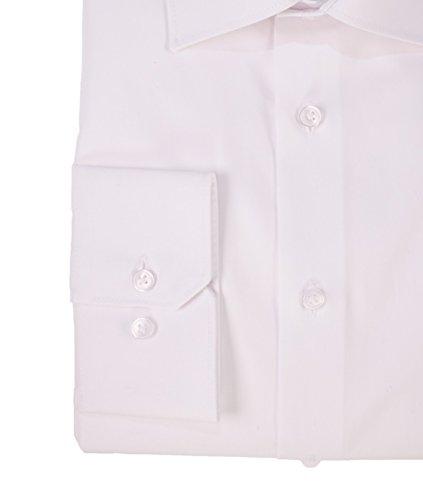 Haupt - Modern Fit - Bügelleichtes Herren Langarm Hemd mit Kent Kragen in verschiedenen Farben (0600 7240) Weiß