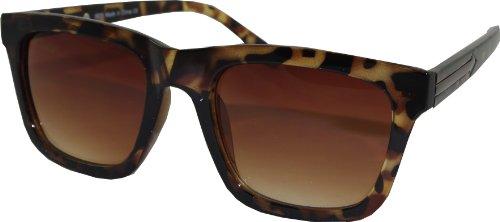 Fastback-Retro Style Sonnenbrille Schildpatt Frames
