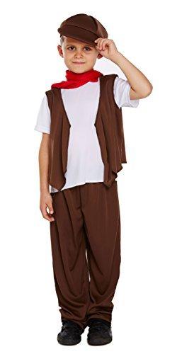 (Jungen 5 Stück Arme Viktorianisch Schornsteinfeger Kostüm Kleid Outfit 4-12 Jahre - Braun, 4-6 Years)
