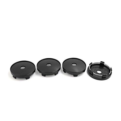 sourcingmap® 4pcs 60mm Noir Chapeau moyeu roue diamètre couvercle protection pour voiture Auto